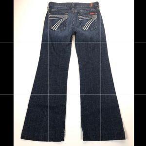 7 for all Mankind Medium Wash DOJO Flare Jeans 25